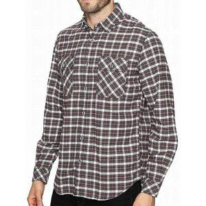 James Cambell Men's Large Red Gonzalo Plaid Shirt